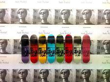 "Andy Warhol x il skateroom ""SEDIA ELETTRICA"" Skate PONTI X8 Set kaws Basquiat DH"