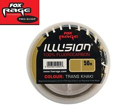 Fox rage Illusion Soft Fluorocarbon Trans Khaki 0 28mm 4 55kg 50m