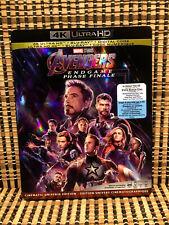 Avengers Endgame 4K (1-Disc Blu-ray, 2019)+Slipcover.Marvel.Captain America/Thor