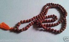 10 - 12 MM 5 mukhi 108+1 rudraksha prayer bead mala jap yoga,1 piec Free 4 mukhi