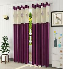 New Floral Net Polyester 7 ft Door Curtain (Wine) -2 Pieces
