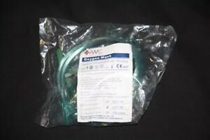 3 x ARTG listed Oxygen Masks. 3 x Adult Large Medium Concentrated 213cm tubing