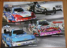 2015 John, Courtney, Brittany Force/Robert Hight Chevy Camaro NHRA postcard