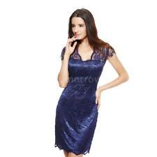 Plus Size Short Sleeve V Neck Cocktail Dresses for Women