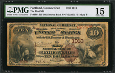 BROWN BACK Connecticut 1882 $10 Portland, CT BROWN BACK Fr. 480 CH# 1013