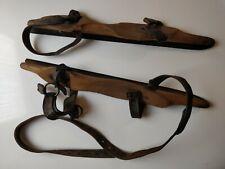 Vintage Wood & Steel Skating Shoes/Blades
