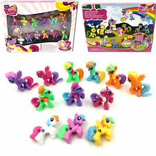 12pcs My Little Pony Action Figures Set Toy Cake Topper Car Home Decor Kids Pla