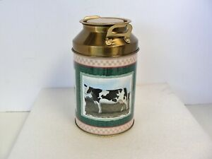 """Lithographed Farm Animals on Replica Farm Milk/Dairy Can 6"""" Tall"""