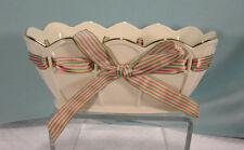 Lenox Small Porcelain Oval Bowl Pierced Ribbon Great Giftables Mint in Box New