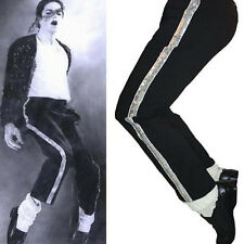 MJ Michael Jackson Black Billie Jean Entertainers Straight Silver trousers pants