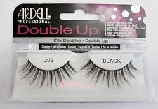 Ardell DOUBLE UP LASHES #206 False Eyelashes AUTHENTIC Strip Layered Black