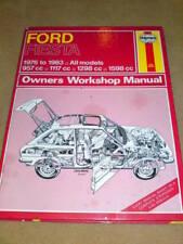 HAYNES MANUAL - FORD FIESTA 1976 to 1983 #2
