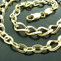 NECKLACE PENDANT CHAIN GENUINE REAL 18K YELLOW G/F GOLD LADIES CLASSIC LINK
