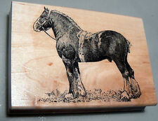 "P4  Draft horse-Clydesdale- rubber stamp 2.75x3"" WM"