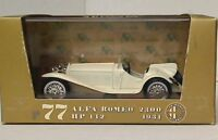 BRUMM R77 ALFA ROMEO 2300 HP142 die cast model road car White 1931 1:43
