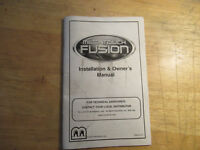 FUSION MEGATOUCH MERIT     ARCADE GAME  owners manual