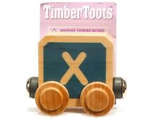 Timber Toots Name Trains Wooden Railway System Alphabet Preschool Toys Letter X