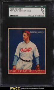 1933 Goudey Burleigh Grimes #64 SGC 5 EX