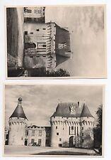 PHOTO ANCIENNE Château de Jonzac Charente Maritime Vers 1950 Tour Porche Horloge