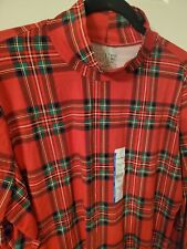 Time and Tru Red rayon/cotton plaid Mock Turtleneck sz S (4-6) New with tags