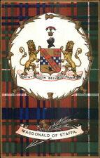 Scotland Scottish Tartan Clan Series c1905 Postcard MACDONALD of STAFFA