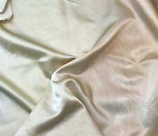 "Hand Dyed ECRU - Silk/Cotton SATIN Fabric 45"" by the yard"