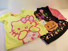 Hello Kitty Infants Shirts, Lot of 2, Black Yellow Glitter Details Size 2T