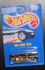 HOT WHEELS HUNT (1) 1989 SOL AIRE CX4 W/ GUH ON INTERNATIONAL BLUE CARD (MOMC)