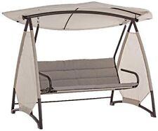 Dondolo Logan tortora Bizzotto 3P struttura in ferro con cuscini e tettino
