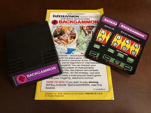 ABPA Backgammon from Mattel Electronics for Intellivision no box