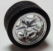 PEGASUS  1/24-1/25 Shueys Chrome Rims w/Tires (4)  PGS1279