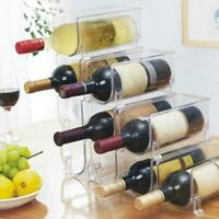 Wine Rack Holder Wine Bottle Display Bar Cabinet Storage Stackable Countertops