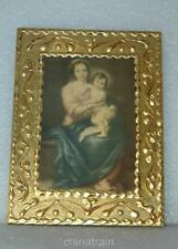 Vintage Italy Virgin Mary & Child Jesus Wall Plaque 6x8""