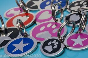 DOG/CAT STYLED ID IDENTIFICATION NAME TAGS WITH ENGRAVING - NUTS ABOUT MUTTS