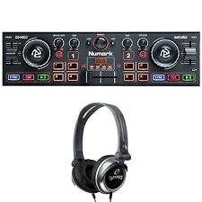 Numark DJ2GO2 Portable Pocket DJ Controller with Audio Interface + Headphones