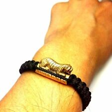LP PERN Buddha Takrut Bracelet Magic Tiger Thai Amulet Power Full Life Protect