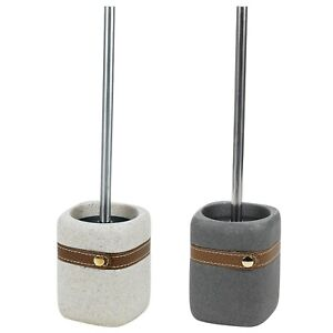 Modern Stainless Steel Bathroom WC Soft Toilet Brush Stone Holder Cleaning Set