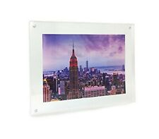 Isaac Jacobs Wall Mountable Acrylic Picture Frame (Horizontal and Vertical)5x7