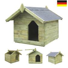 Hundehütte XL-L Hundehaus für große Hunde isoliert Windfang Echt-Holz wetterfest