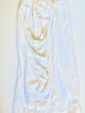 SHIRIN GUILD Women S/M 100% Linen Lagenlook Modern Draped Minimalist Skirt