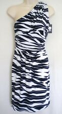 VINCE CAMUTO Nautical Navy Blue White One Shoulder Dress XS NWT Womans MSRP $120