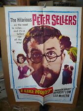 I LIKE MONEY, nr mint orig 1-sh / movie poster (Peter Sellers, Herbert Lom) 1962
