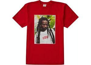 Supreme Buju Banton T Shirt Red Size M Medium