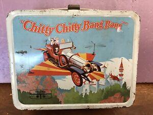 Chitty Chitty Bang Bang Metal Lunch Box 1968 ~ Dick Van Dyke ~ With Thermos