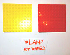 1970s 1980s ? Vintage LEGO 10x10 stud Red Yellow Base Plate Brick 733 lot