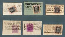 """ROX Lotto Annulli con Targhetta su francobolli di Regno """" Battaglia del Grano"""""""