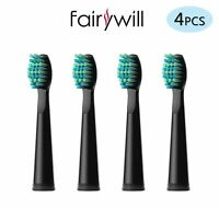 Fairywill 4pcs x Soft Bristles Electric Toothbrush Heads for FW-917/659/507/508