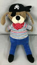 Maison Chic Blue Brown Pirate Puppy Dog Corduroy Stripes stuffed animal plush