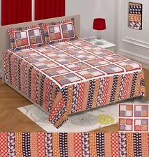 Cotton Jaipuri Bedsheet King Size Bedding Set 2 Pillow Covers Bedspread Tapestry