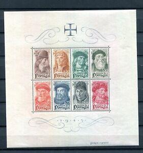 1945.PORTUGAL.HOJA Bloque.yvert 7 .nuevo Sleeveless Fijasellos. (MNH) .catalogo